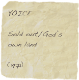 YOICE  Sold out/God's own land  (1971)